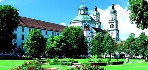 Kempten, Hofgarten mit Residenz und St. Lorenz Basilika