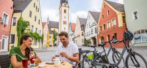 Kaffeepause am Marktplatz Schwandorf
